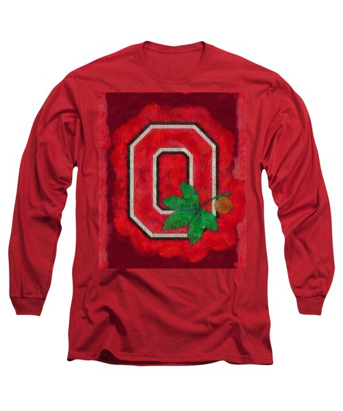 Ohio State Buckeyes On Canvas Long Sleeve T-Shirt