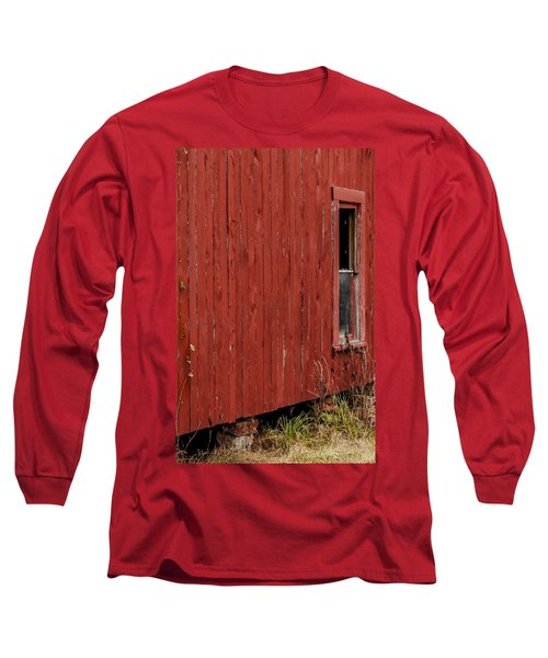 Long Sleeve T-Shirt featuring the photograph Old Barn Window by Debbie Karnes