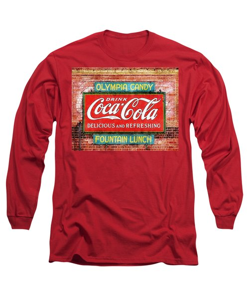 Long Sleeve T-Shirt featuring the painting Olympia Candy by Sandy MacGowan