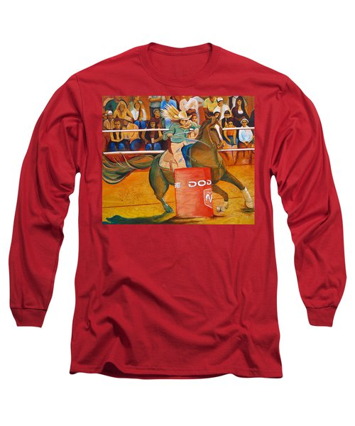 Long Sleeve T-Shirt featuring the painting On A Dime by Joshua Morton