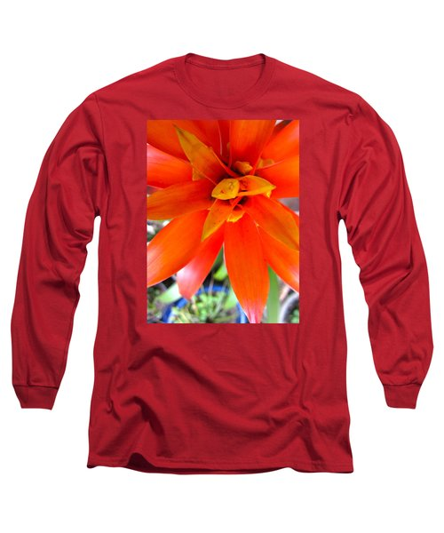 Orange Bromeliad Long Sleeve T-Shirt