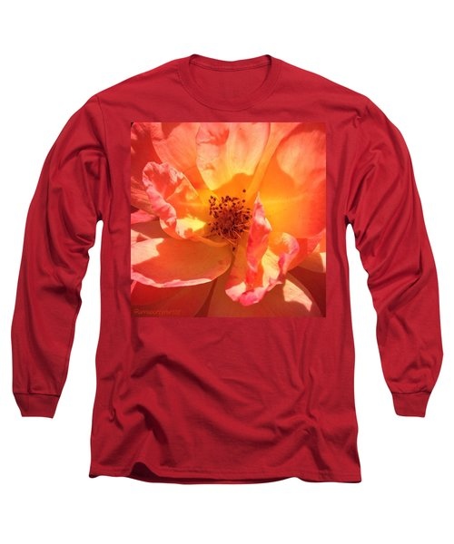 Orange Confection Rose Long Sleeve T-Shirt