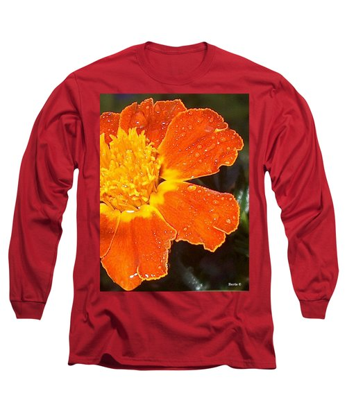 Orange Flower Long Sleeve T-Shirt