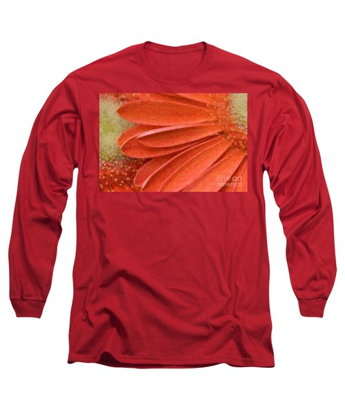 Orange Gerber Daisy Painting Long Sleeve T-Shirt