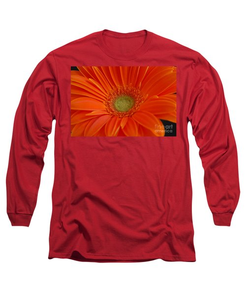 Orange Gerber Daisy Long Sleeve T-Shirt by Patrick Shupert