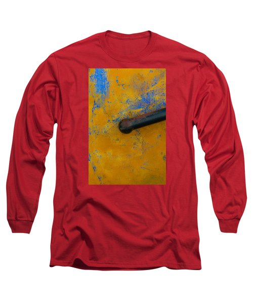 Orange On Blue Long Sleeve T-Shirt