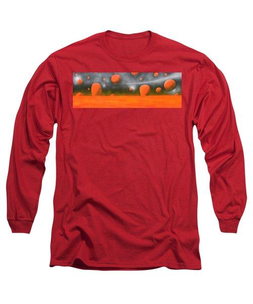 Orange Planet Long Sleeve T-Shirt