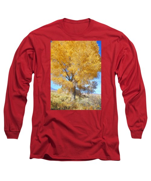 Long Sleeve T-Shirt featuring the photograph Orange Serenade by Marilyn Diaz