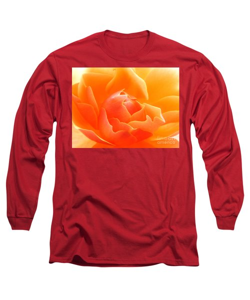 Orange Sherbet Long Sleeve T-Shirt by Deb Halloran