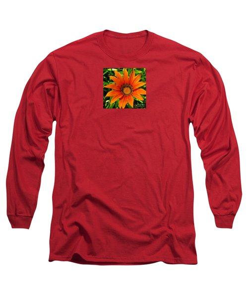 Orange Sunshine Long Sleeve T-Shirt by Janice Westerberg