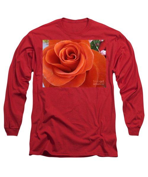 Orange Twist Rose 2 Long Sleeve T-Shirt