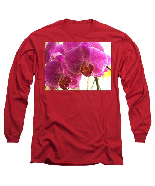 Long Sleeve T-Shirt featuring the photograph Orchid by Lingfai Leung