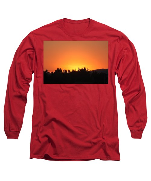 Long Sleeve T-Shirt featuring the photograph Oregon Sunset by Melanie Lankford Photography