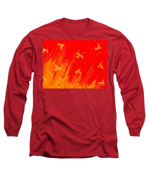 Out Of The Fire Long Sleeve T-Shirt by Stefanie Forck