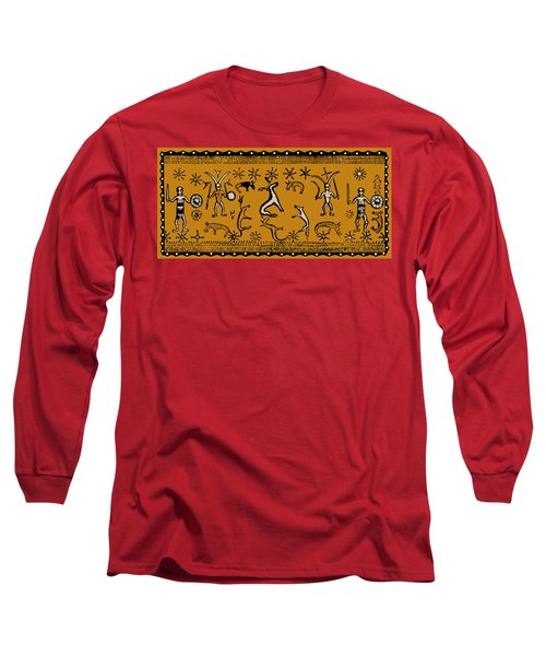 Long Sleeve T-Shirt featuring the digital art Pagan Rituals by Vagabond Folk Art - Virginia Vivier