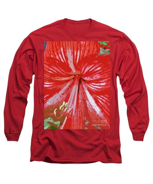 Painted Amaryllis Long Sleeve T-Shirt
