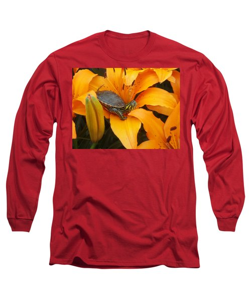 Painted Lilly Long Sleeve T-Shirt
