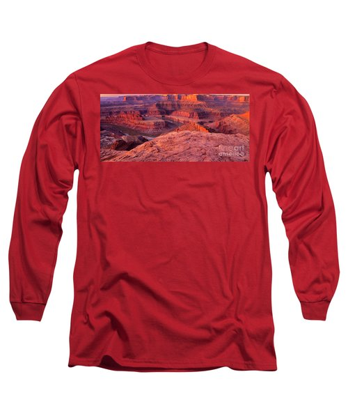 Long Sleeve T-Shirt featuring the photograph Panorama Sunrise At Dead Horse Point Utah by Dave Welling