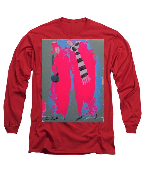 Long Sleeve T-Shirt featuring the painting Paris Promenade by Marina Gnetetsky
