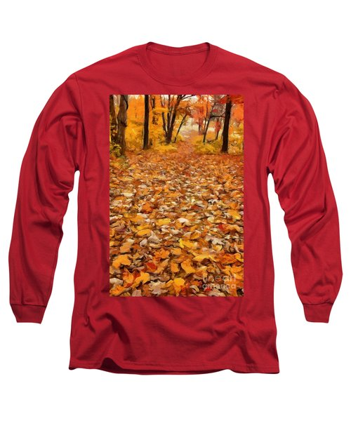 Path Of Fallen Leaves Long Sleeve T-Shirt