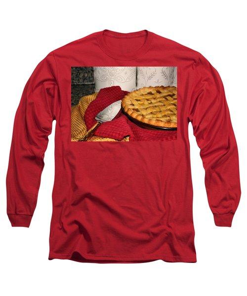 Peach Pie Long Sleeve T-Shirt by Kristin Elmquist