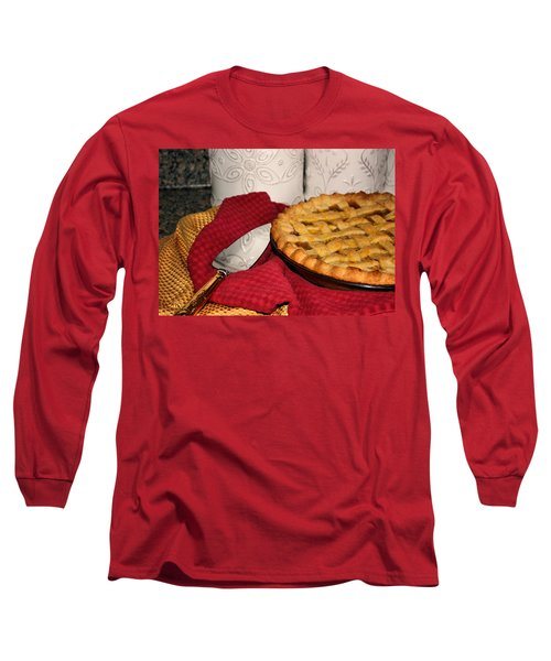 Long Sleeve T-Shirt featuring the photograph Peach Pie by Kristin Elmquist