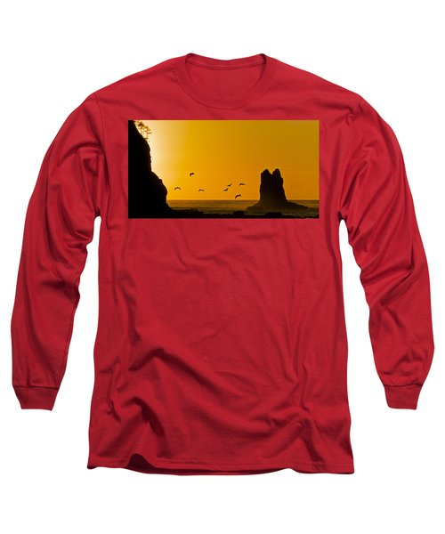 Pelicans On The Wing II Long Sleeve T-Shirt