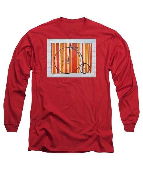Penny-farthing Long Sleeve T-Shirt by Marilyn  McNish