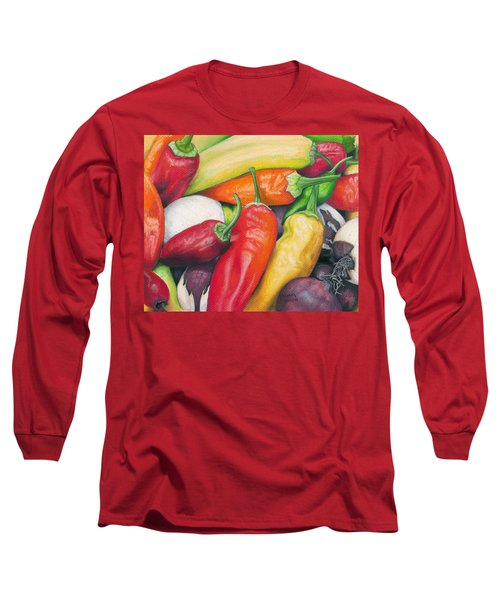 Peppers And Onions Long Sleeve T-Shirt