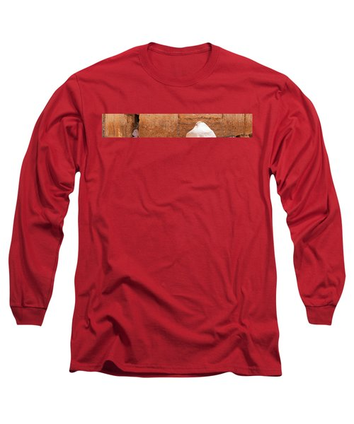 Person Praying In Front Of Western Long Sleeve T-Shirt
