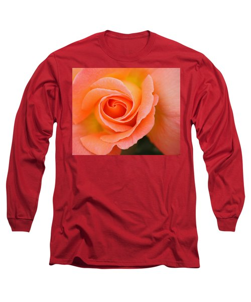 Long Sleeve T-Shirt featuring the photograph Petals Of Peach by Rowana Ray