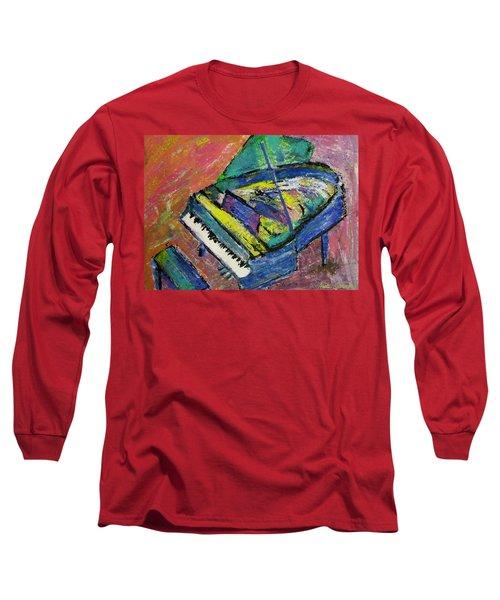 Piano Blue Long Sleeve T-Shirt