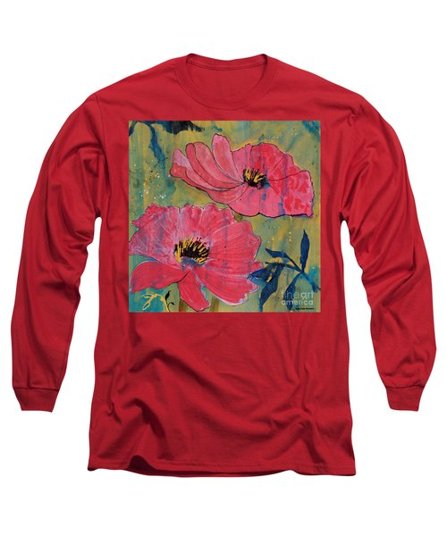 Pink Blossoms Long Sleeve T-Shirt by Robin Maria Pedrero