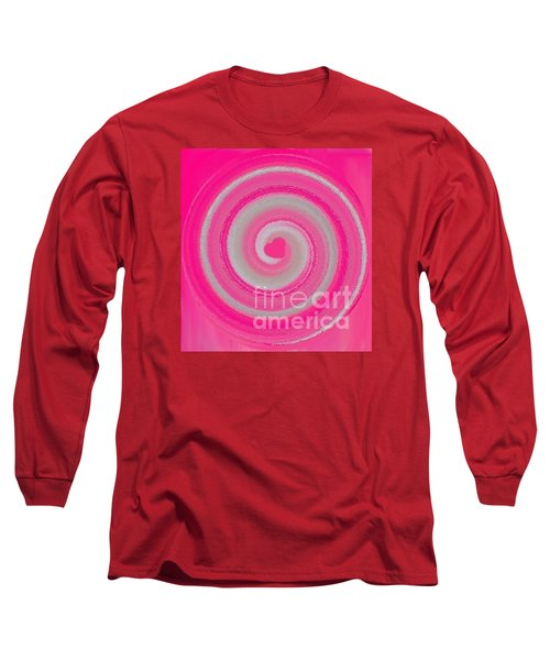 Long Sleeve T-Shirt featuring the digital art Pink Fluff by Catherine Lott