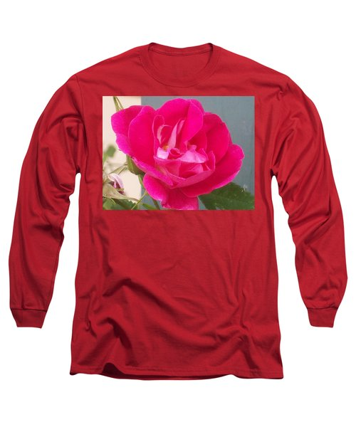 Long Sleeve T-Shirt featuring the photograph Pink Rose by Jewel Hengen