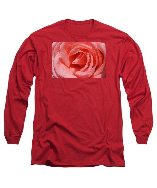 Pink Rose Long Sleeve T-Shirt by Kathy Churchman