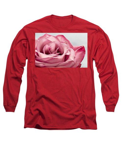 Pink Rose Macro Long Sleeve T-Shirt
