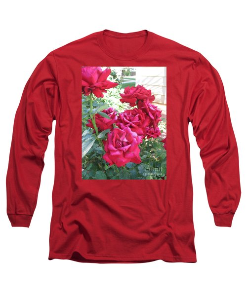 Long Sleeve T-Shirt featuring the photograph Pink Roses by Chrisann Ellis