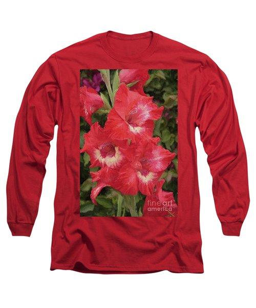 Pink Trumpet Painting In Digital Oil Long Sleeve T-Shirt