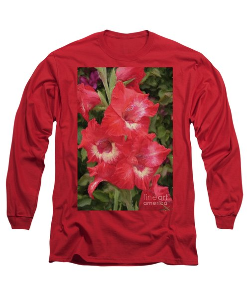 Pink Trumpet Painting In Digital Oil Long Sleeve T-Shirt