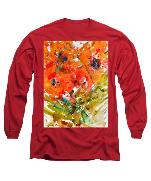 Poppies In A Hurricane Long Sleeve T-Shirt