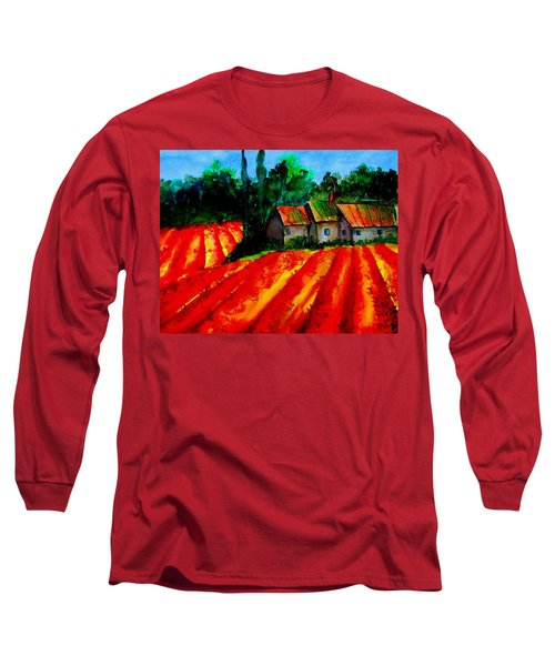 Poppy Field  Sold Long Sleeve T-Shirt by Lil Taylor
