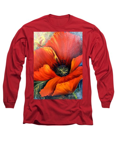 Poppy Red Long Sleeve T-Shirt