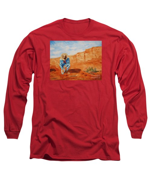Long Sleeve T-Shirt featuring the painting Prayer For Earth Mother by Ellen Levinson