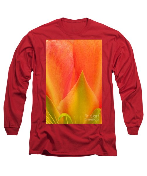 Long Sleeve T-Shirt featuring the photograph Prickly Pear Flower Petals Opuntia Lindheimeni In Texas by Dave Welling