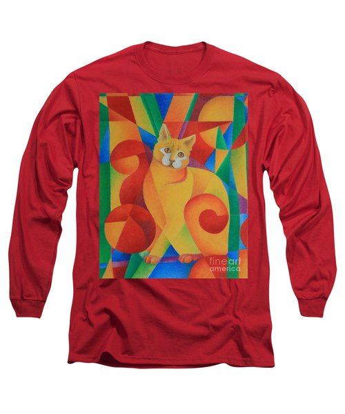 Primary Cat II Long Sleeve T-Shirt by Pamela Clements