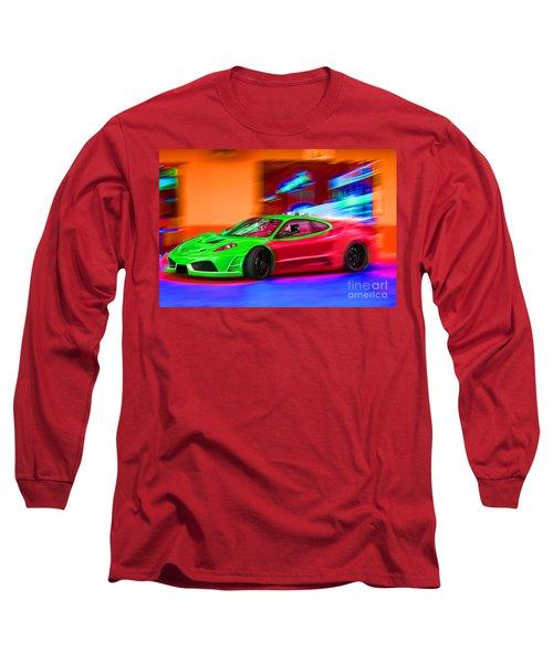 Long Sleeve T-Shirt featuring the photograph Psychedelic Ferrari by Gunter Nezhoda