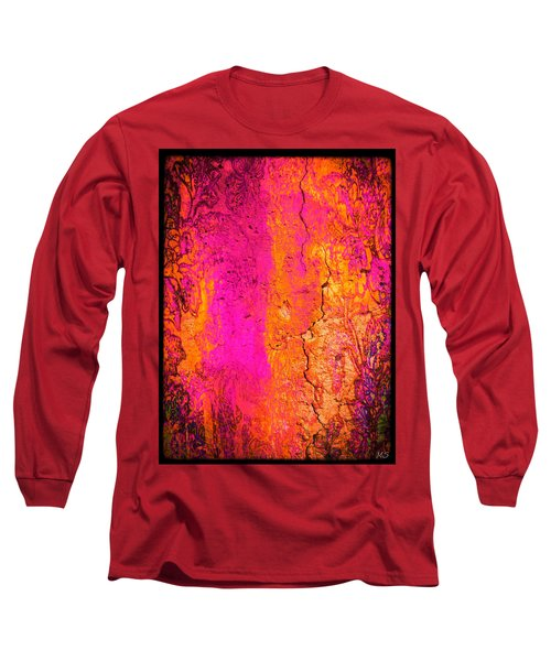 Long Sleeve T-Shirt featuring the digital art Psychedelic Flashback - Late 1960s by Absinthe Art By Michelle LeAnn Scott