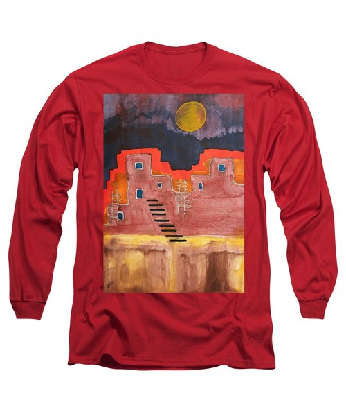 Pueblito Original Painting Long Sleeve T-Shirt
