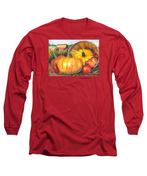 Pumpkin Pickin Long Sleeve T-Shirt by Carol Wisniewski